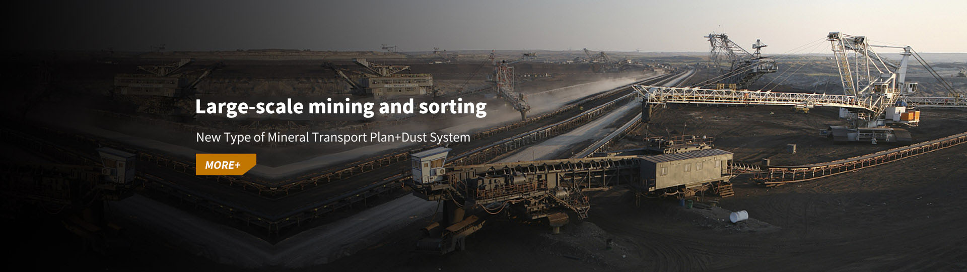 Large-scale mining and sorting - a new type of mineral transportation plan + dust system